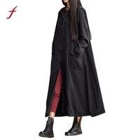 Women Linen Jacket Dress 2017 Hooded Casual Solid Color Loose Long Maxi Dress Long Sleeve Dress