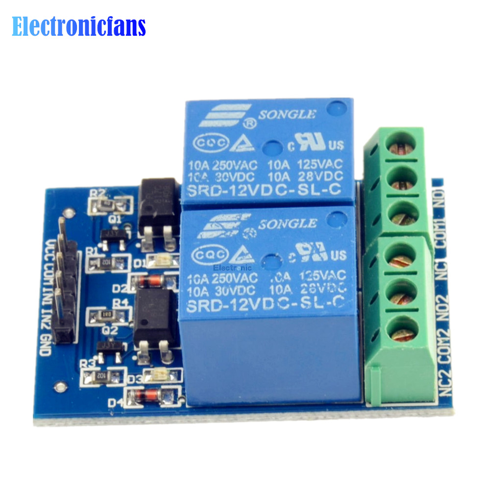 30v Dc Optocoupler Relay Module 2 Channel