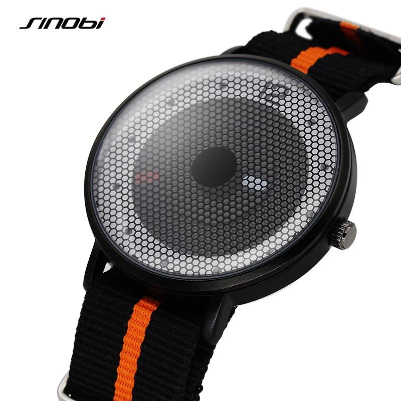 With Gift Box Sinobi Luxury Fashion Creative Women's Watch Quartz Wrist Watch Bracelet Wristwatch Nylon Clock Women Montre Femme