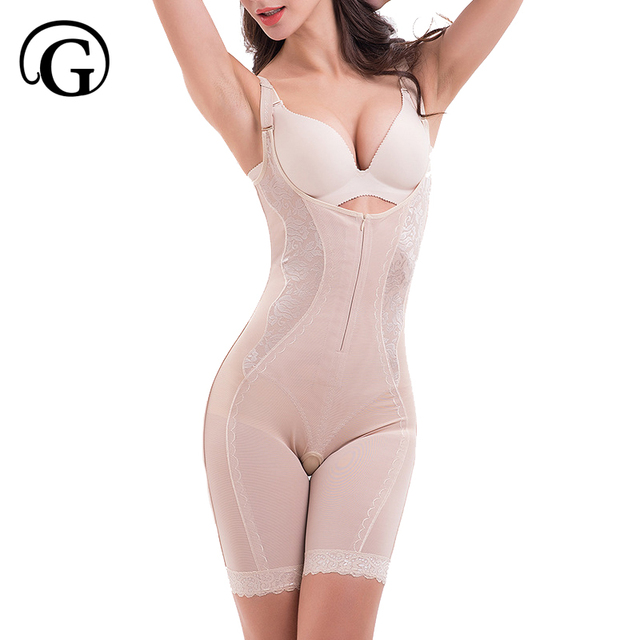 c662aaa137f PRAYGER 5XL Plus Size Women Magic Full Body Shaper Zipper Control Belly  Butt lift Bodysuits Push Up Bras Tummy Trimmer Underwear