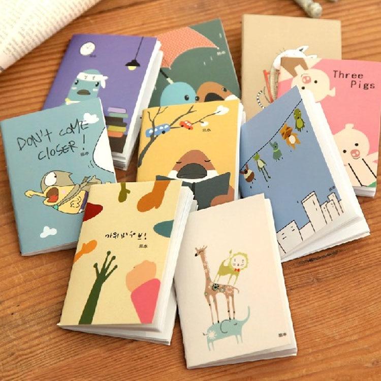 Unter Der Voraussetzung Mini Nette Kawaii Notebook Cartoon Tier Notizblöcke Planer Für Kinder Student Koreanische Schreibwaren Schule Supplies Zufällige Notebooks & Schreibblöcke