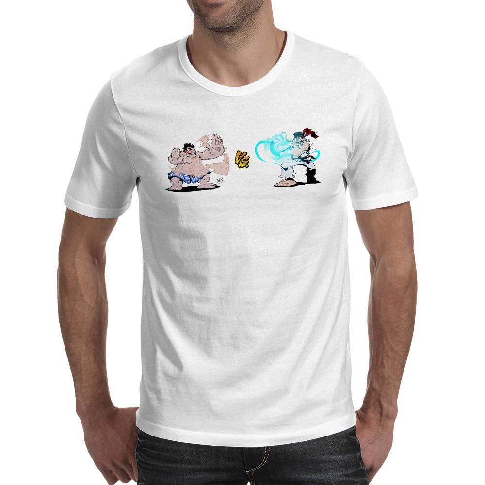 Honda VS Ryu T Shirt Video Game Hip Hop Design Print T-shirt Fashion Funny Style Unisex Tee