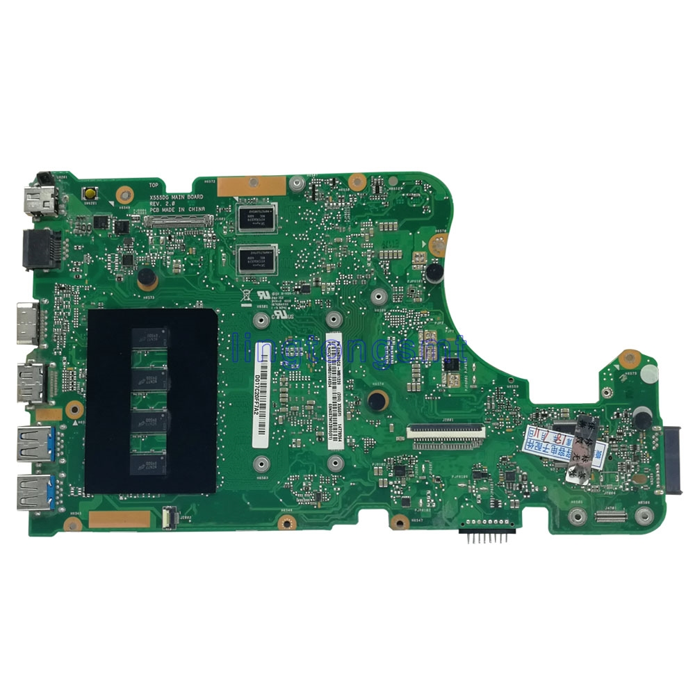 with A10-8700P 4GB RAM X555DG Laptop motherboard for ASUS  X555Y X555YI X555D X555DG original X555DG mainboard TETS 100% OK