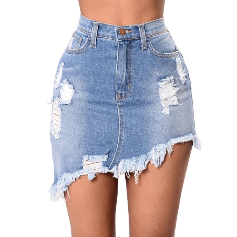Summer Fashion Women New Skirt Sexy Elastic Denim Skirts ...