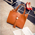 Новый 2016 искусственная кожа сумка сумочка кисточка наискось моды новый BaoChao простой чистый цвет пакет