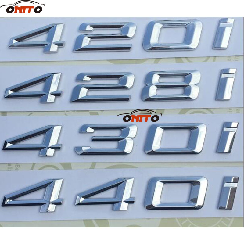 Hot selling Free Shipping 3D sticker 420i 428i 430i 440i ABS Emblem Badge Car Fender Stickers for bmw