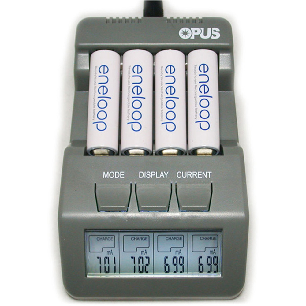 Opus BT-C700 Battery Charger NiCd NiMh LED Screen Digital Intelligent AAA 16340 AA 4 Slots Battery Chargers EU US Adapter Plug 5 5 x 2cm lcd multifunctional intelligent digital 4 x aa aaa batteries charger black us plug