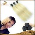 7A Высокое качество девственницы прямых навальные волосы для плетения 100% бразильских виргинский реми наращивание волос 3 шт. оптовая продажа 613 цвет волос
