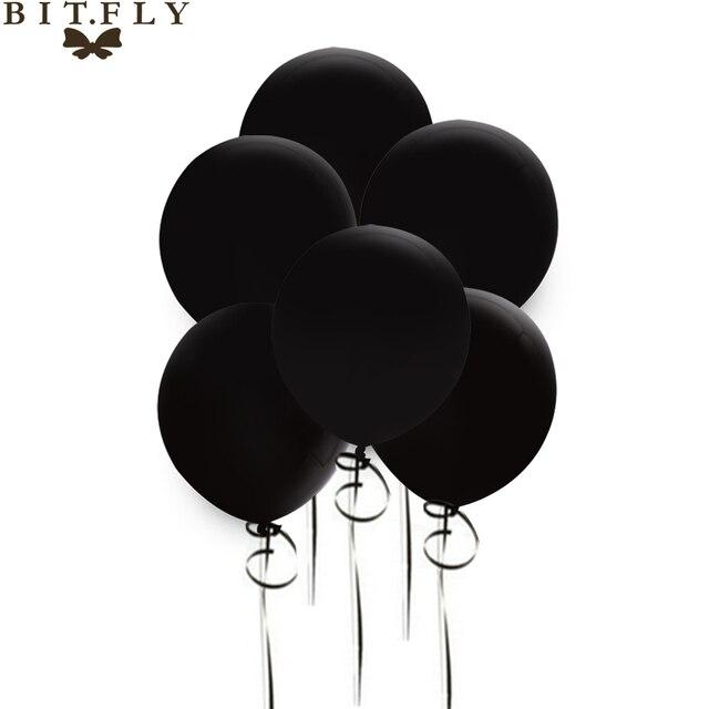 Hot Sale 50pieces 12 Inch Round Black Latex Balloon Halloween