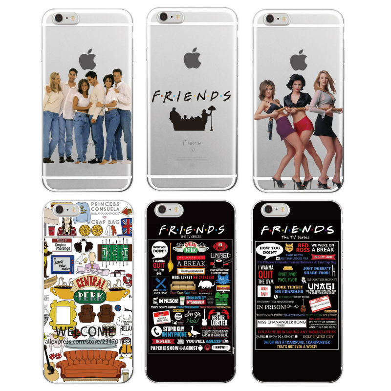 sneakers for cheap 8282d a4aa4 US $1.33 33% OFF Friends TV Show Funny Central Perk Park Soft Phone Case  Cover Coque Fundas For iPhone 7Plus 7 6 6S 8 8plus X XS Max Samsung-in  Fitted ...