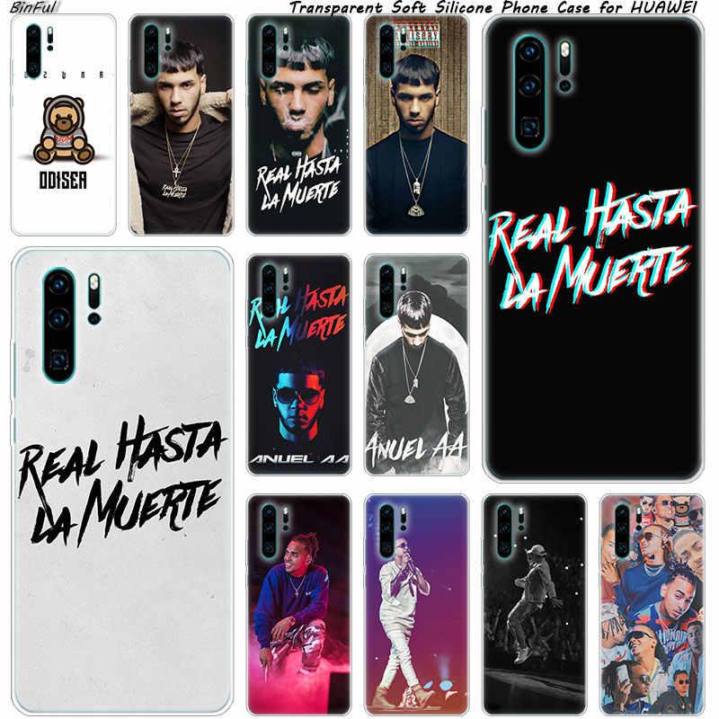 Anuel aa Ozuna na telefon komórkowy Z miękkiego silikonu etui na Huawei P30 P20 Pro P10 P9 P8 Lite 2017 P Smart Z Plus 2019 NOVA 3 3i moda pokrywa