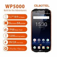 Oukitel WP5000 Smartphone IP68 Waterproof 18:9 16MP+8MP 6GB RAM 64GB ROM 5.7 Inch Octa Core Helio P25 9V2A 4G Mobile Phones