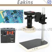 16MP 1080P Full HDMI HD Industrial Video Microscope Camera Set 60F/S High Speed Video 100X C Mount For phone PCB Check Repair