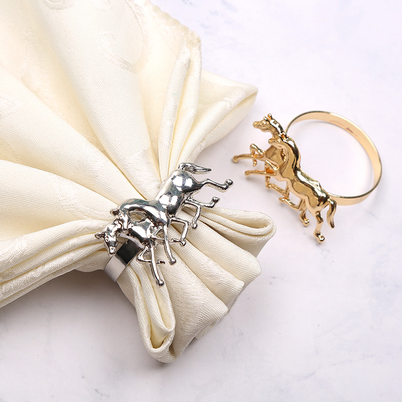 50PCS metal napkin ring European galloping buckle creative cocktail jewelry home tableware supplies