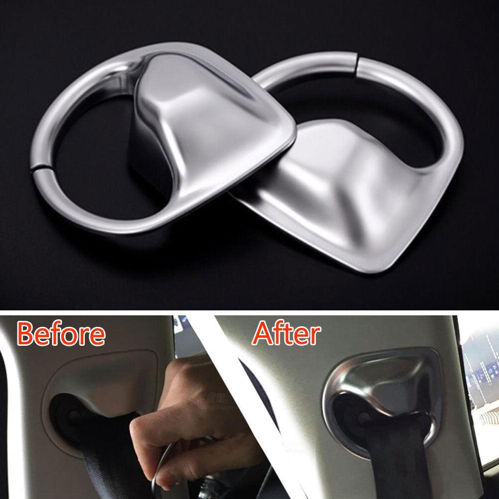 For jaguar xe 2015 2016 auto safety seat belt base cover decoration trim abs interior car