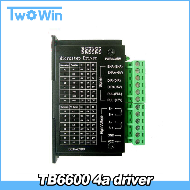 TB6600 stepper motor Driver Controller 4A 9~42V TTL 16  NEW upgraded version of the 42/57/86 stepper motor Micro-Step CNC 1 Axis