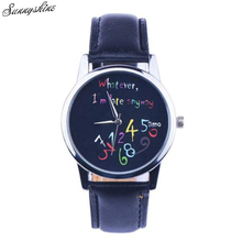 Style Ladies's Watches Cute Little Recent Fake Leather-based band Wrist Watch wholesale v