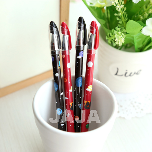 Vinage style gel pens 0.35mm Planet galaxy series pen School stylo escolar supplies office accessories (tt-1209)