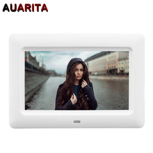 7″ HD LCD Digital Photo Frame 800*480 Electronic Picture Frame Clock Calendar MP3 MP4 Movie Player with Remote Control