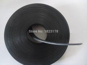 Image 3 - 27 meter P2 Flache Gürtel Breite 25mm Dicke 2mm farbe schwarz Polyurethan mit Stahl core für Fitness Ausrüstung