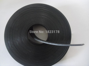 Image 3 - 27Meters P2 Flat Belt Width 25mm Thickness 2mm color black Polyurethane with Steel core for Fitness Equipment