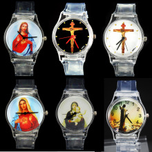 Купить с кэшбэком God Christ Cross Virgin Mary Madonna Sacred Heart of Jesus Brazil Cristo Redentor Christianity Christian Religious Wrist Watch