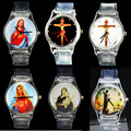 God Christ Cross Virgin Mary Madonna Sacred Heart of Jesus Brazil Redentor Christian Easter Religious Watch Quartz Wrist Watches