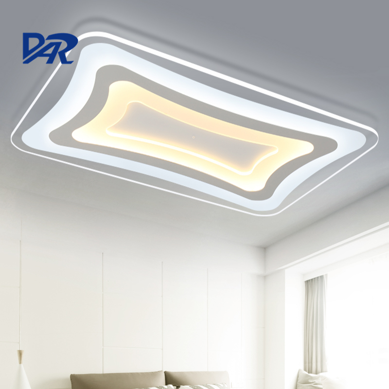 DAR ultrathin rectangel acrylic ceiling lights remote control lustre led lighting fixtures living room luminaria pendente avize|ceiling light remote control|led light fixtures|lighting fixtures living room - title=