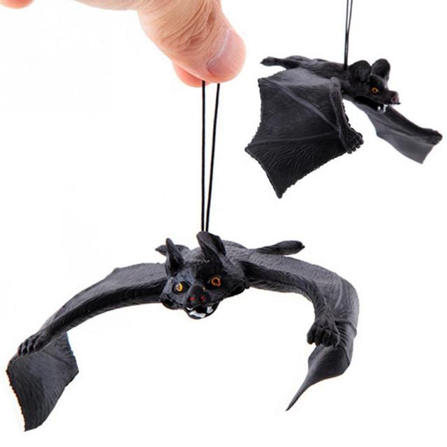 Funny Halloween Trick Props Amusing Rubber Simulation Bat Wall Hanging Halloween Masquerade Party Decoration #0519