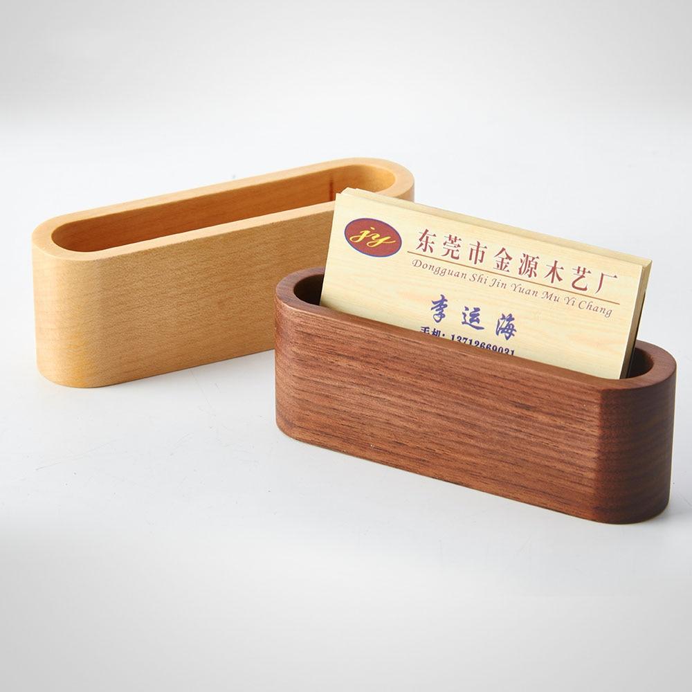 Us 6 27 Kreative Holz Visitenkarte Box Name Karte Halter Desktop Schmuck Holz Lagerung Box A309 In Home Office Aufbewahrung Aus Heim Und Garten
