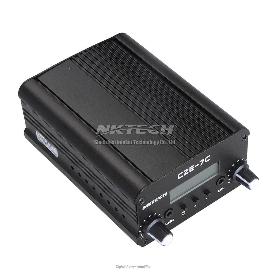 NKTECH CZE-7C PLL FM émetteur Radio Station de diffusion 1 W/7 W stéréo fréquence 76-108Mhz Pro Campus amplificateurs LCD rétro-éclairage - 2