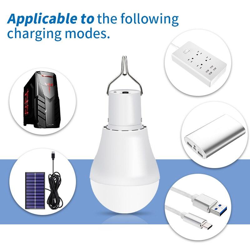 Garden Led Solar Light Power LED Bulb 15W 250LM Portable Charged Solar Energy Lamp For Outdoors Tent Camping Light Led Lighting
