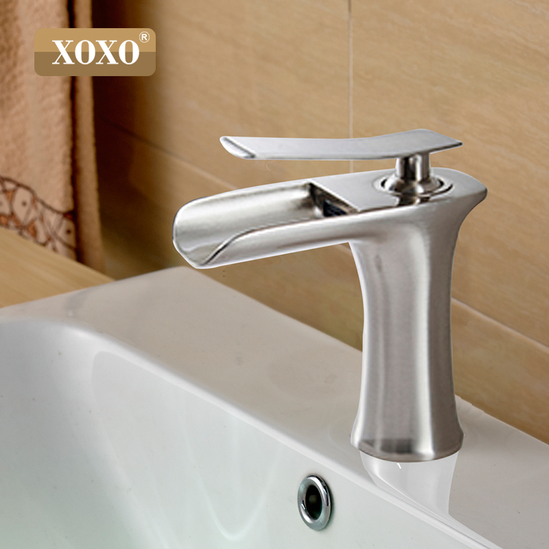 Image 5 - XOXO waterfall copper bathroom vanity for washbasin mixer tap Chrome basin modern fashion style 83008W-in Basin Faucets from Home Improvement