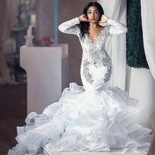 Ike Chimbandi Mermaid Wedding Dresses Long Sleeve