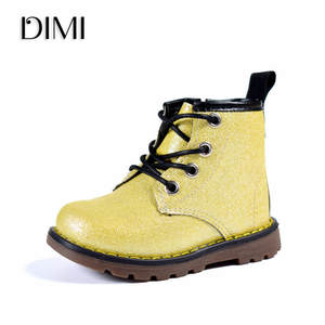 2018 Children Shoes Boys Girls Boots PU Leather Waterproof Martin Boots  Autumn Winter Fashion Baby Boots Brand Kids Rubber Boots 708c6089e5ce