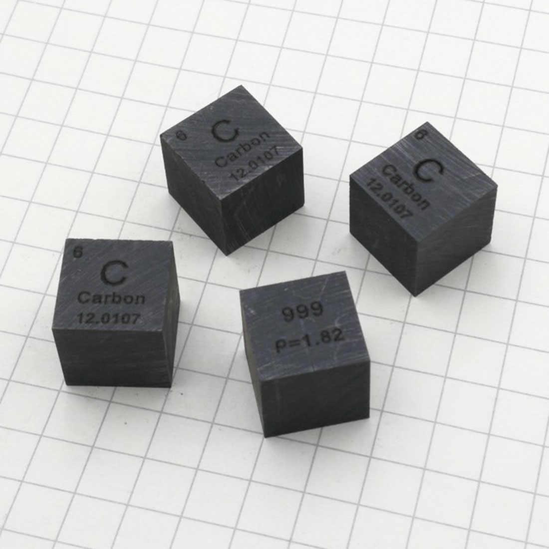 Tabla Periódica de elementos de cubo de carbono trefilado con alambre de 10X10X10mm (C≥ 99.9%) para la colección de estudios de investigación y educación escolar