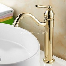 Single hanlde Modern Gold Plated Brass Kitchen Sink Faucet Single Lever Mixer Tap Swivel Spout agf055