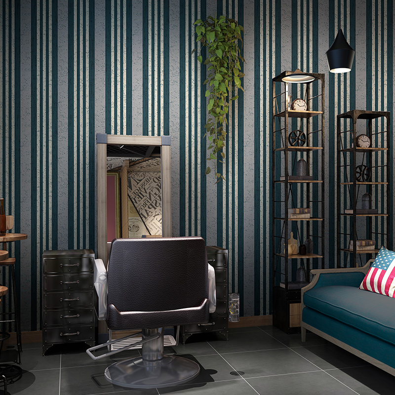 Modern Black And White Red Stripes Wallpaper Vintage Cafe