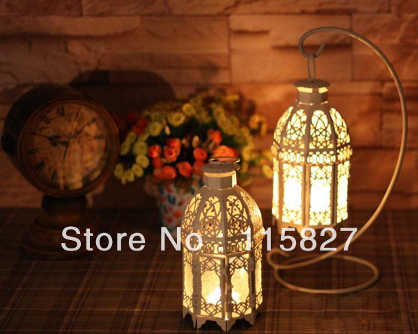 Whole R Wedding Gift Iron Lantern Candle Holder With Hanger House And Decoration