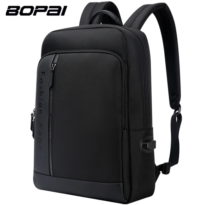 BOPAI Brand Anti Theft Backpack USB External Charge Laptop Backpack 15.6 Inch Men Waterproof School Backpack Bags for Teenager