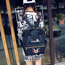 New fashion Kumamon backpack students school bags leisure travel bags anime bags men women fashion canvas rucksack Laptop bags