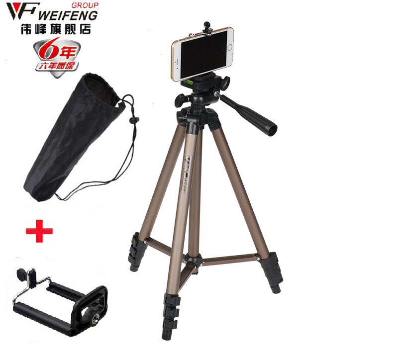 Weifeng WT3130 Hot Sale Camera Phone Holder Tripod Bracket Stand Mount Monopod Styling Accessories For Mobile