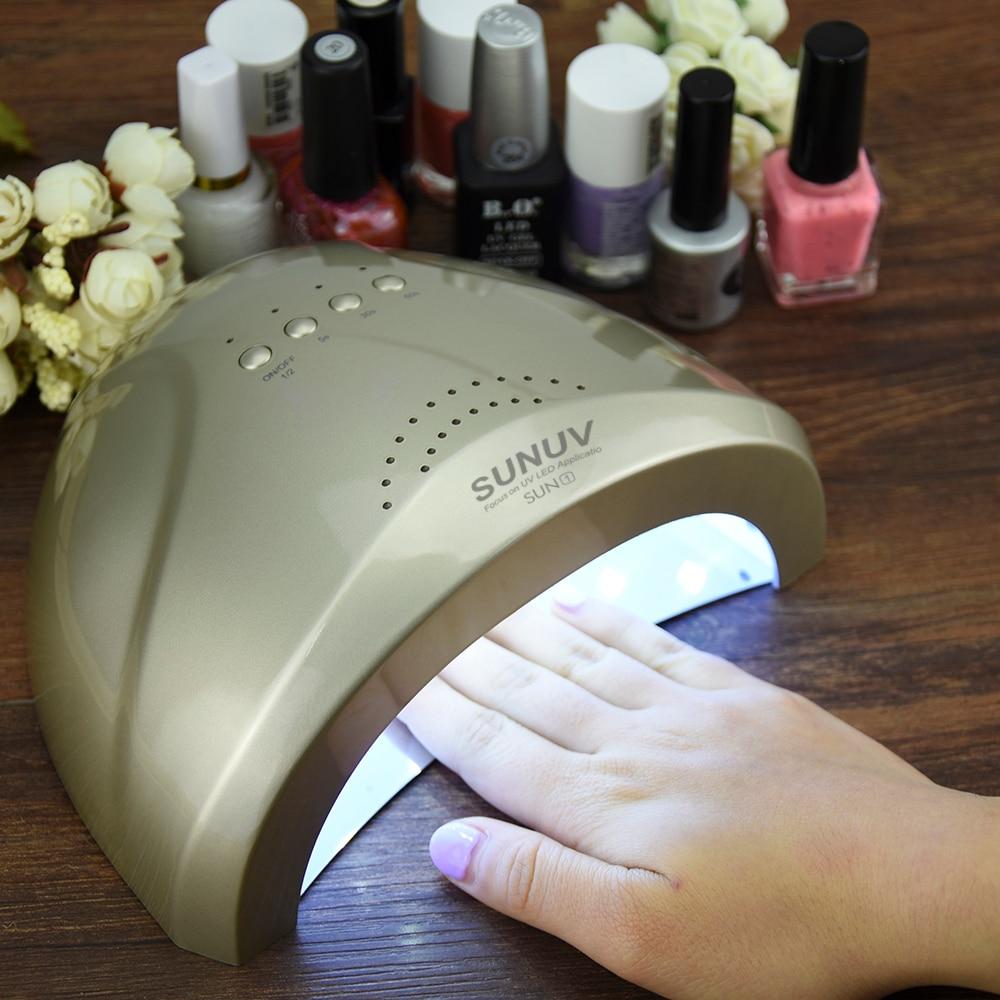 SUNone 48 W/24 W secador de uñas Gel LED UV lámpara secador de uñas ...