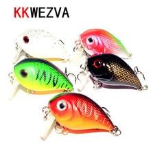 KKWEZVA 5pcs 4.5cm/7.2g Fishing Lures Crank Baits Mini Crankbait Artificial Lure Bait with Feather Lifelike Fake Lure Wobbler