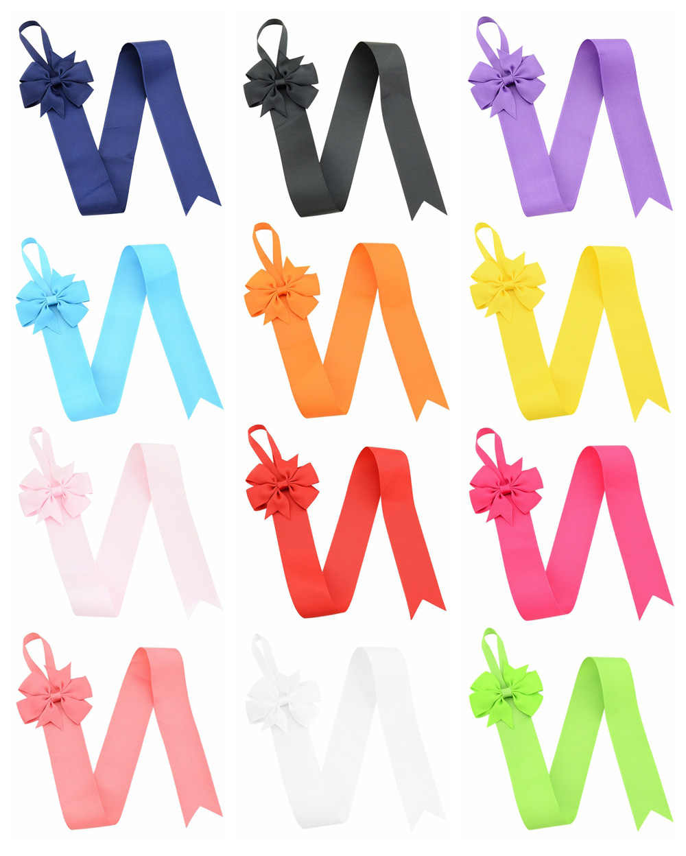 1piece 26 Inch High quality Solid Color Hair Bow Holder Handmade Girl Barrette Holder Princcess's Hair Accessories 770