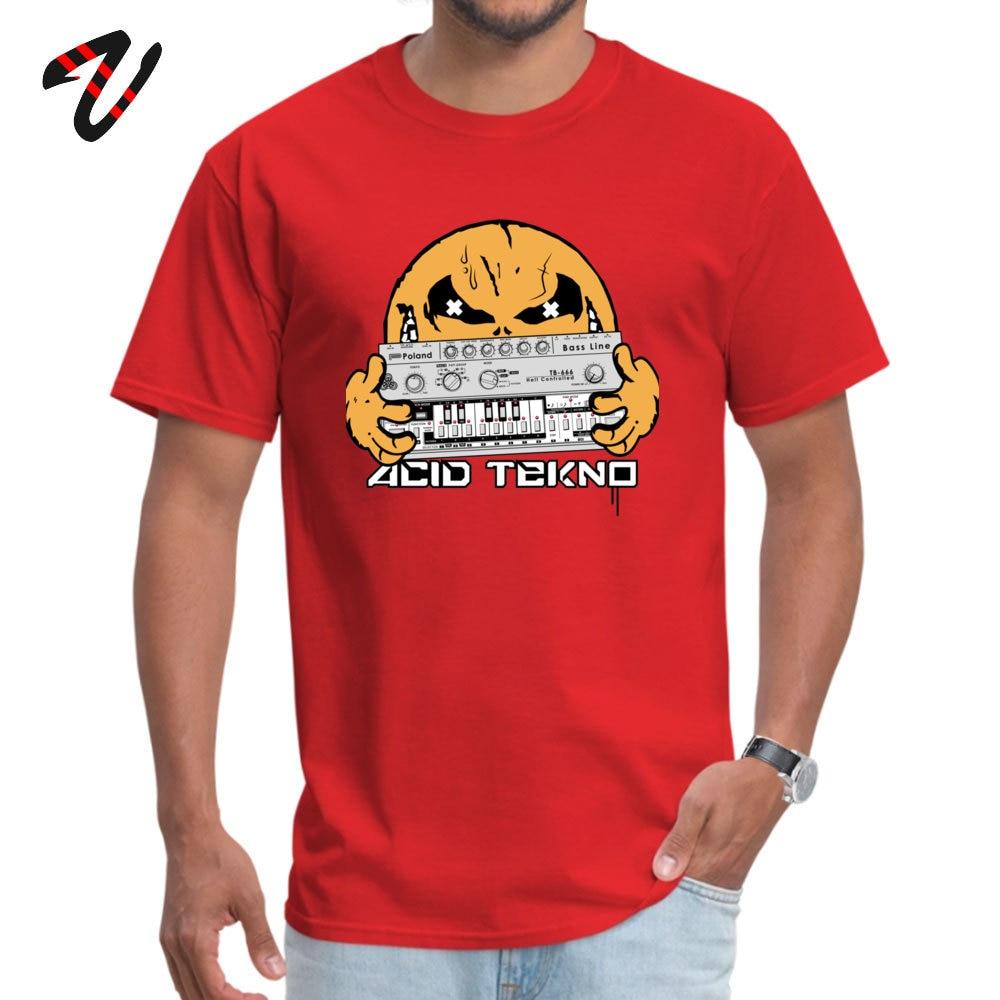 Fashion Men Tees acid tekno Casual T Shirts All Cotton Short Sleeve Design Tee Shirts Crew Neck Free Shipping acid tekno -3319 red