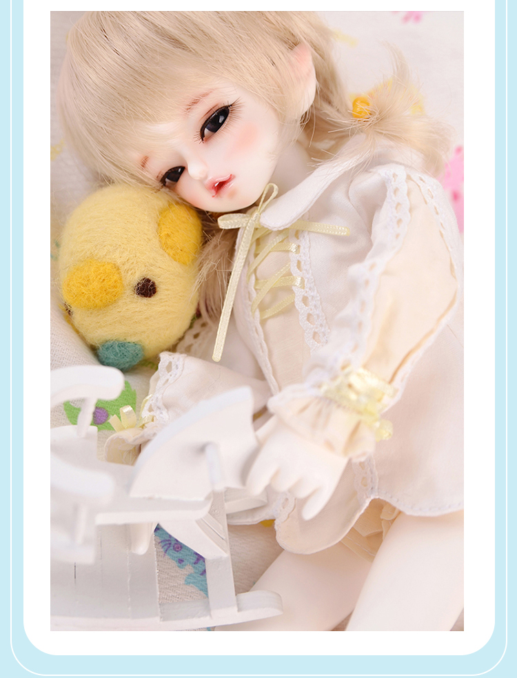 luodoll Bjd doll sd doll 1 / 6BB baby soom Happy & Lucky doll (include makeup and eyes) luodoll bjd doll sd doll 6 points female baby ramcube ravi yosd 1 6 joint doll doll include makeup and eyes