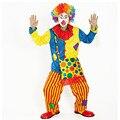 Хэллоуин Костюмы Для Взрослых Смешно Арлекин Цирк Клоун Костюм Непослушный Единая Необычные Косплей Одежда для Мужчин Женщин Клоун Одежды
