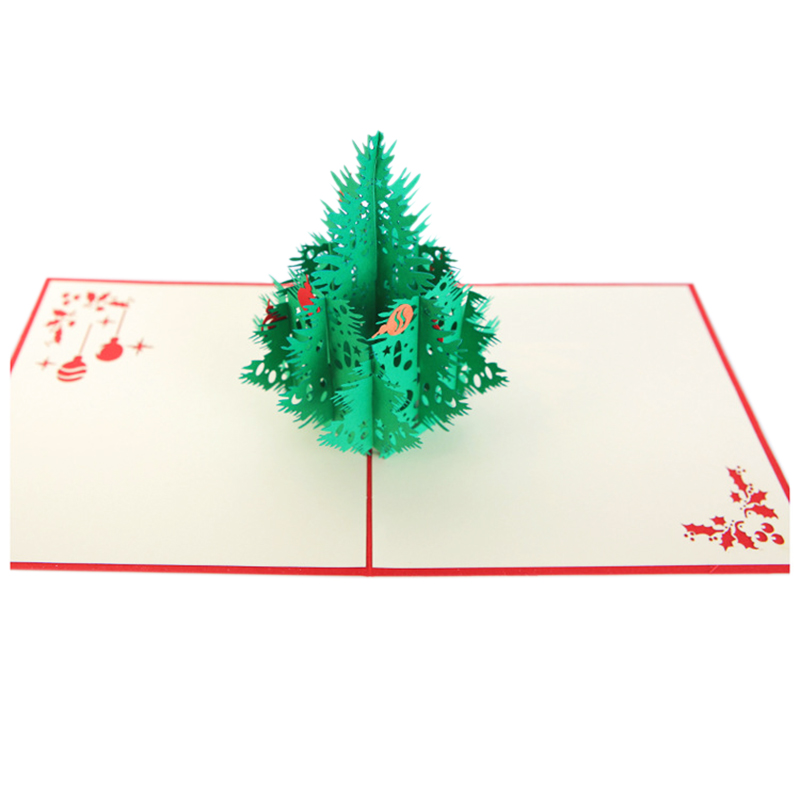 Perfect-3D Christmas card Three-dimensional Christmas tree