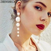 US $0.54 50% OFF|Fashion Earring long chain imitation pearl earring punk street 2018 geometric ear jewelry for women party wedding gift -in Drop Earrings from Jewelry & Accessories on Aliexpress.com | Alibaba Group